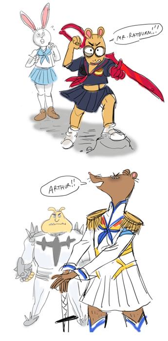 anime memes arthur kill la kill mash up