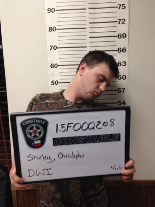 passing out at you mugshot is bad form