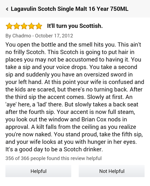 the whiskey that turns you scottish