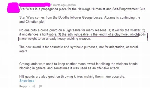 lightsaber star wars conspiracy nerdgasm failbook g rated - 8447630592