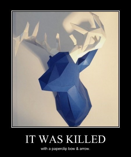 awesome,deer,papercraft,funny