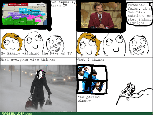 Mortal Kombat,cold,weather,winter,Sub Zero,video games
