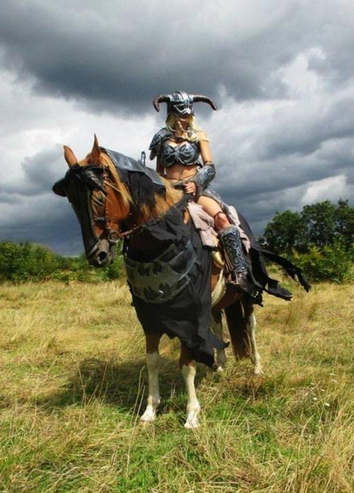 geeky cosplay skyrim horse armorac