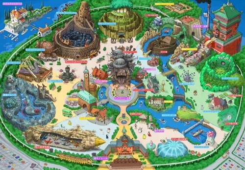 anime fan art studio ghibli theme park