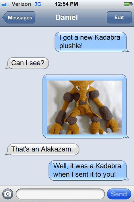 Pokémon clever alakazam trading kadabra texting - 8447820032