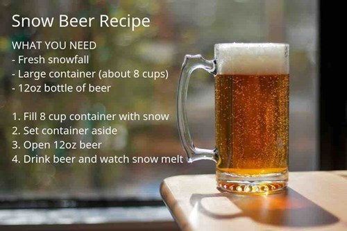 time for a delicious snow beer