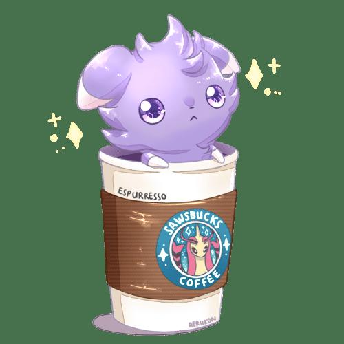 espurr, espresso, starbucks, pokemon
