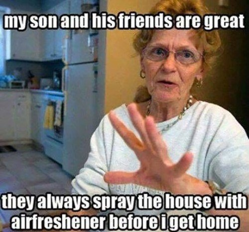 your son always uses air-freshener