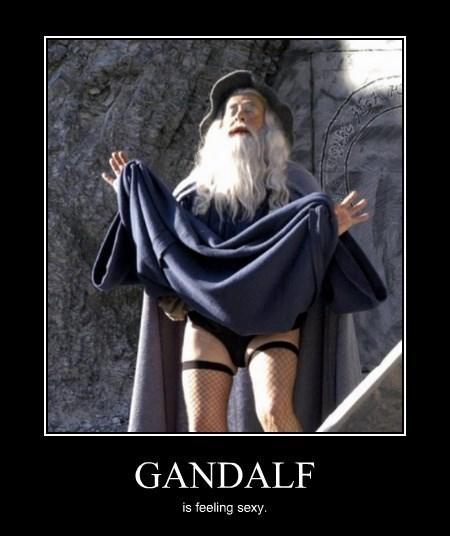 kinky gandalf wizard funny