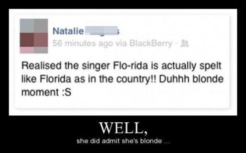 blonde florida idiots funny - 8448324864