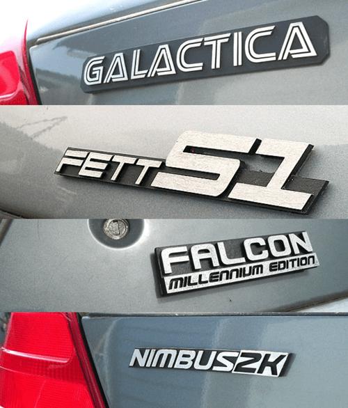 geeky merch nerdy car emblems for sale