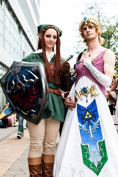 geeky cosplay legend of zelda gender swap