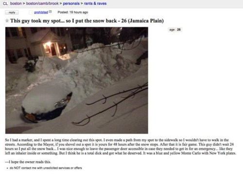 epic-win-pics-revenge-craigslist-car-parking-space-snow