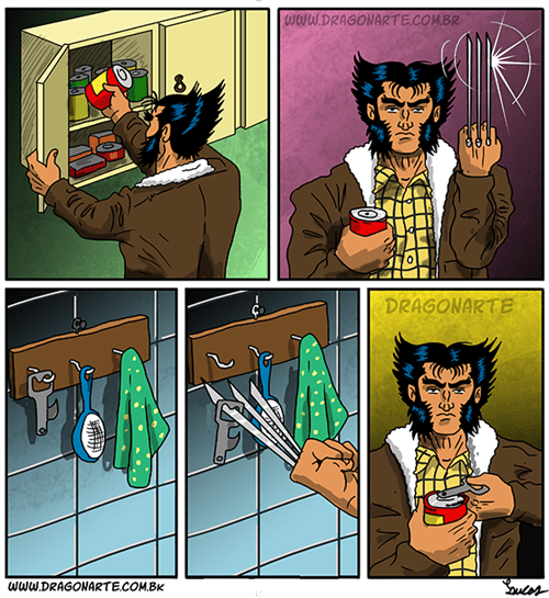 superheroes-wolverine-marvel-using-can-opener-web-comics