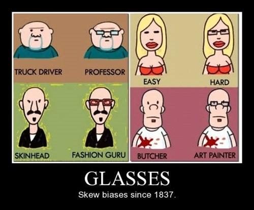 glasses bias funny looks - 8448979200