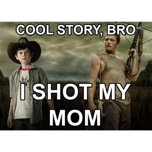 funny-walking-dead-carl-and-daryl-dead-moms