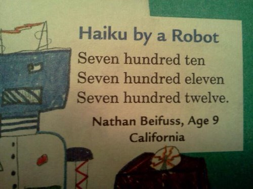 robots write great haiku