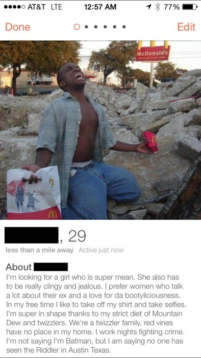 tinder,awesome,profile,online dating,funny