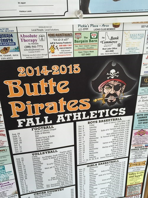 butte pirates are fierce athletes