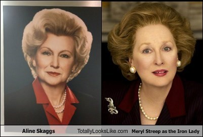 Aline Skaggs Totally Looks Like Meryl Streep as the Iron Lady