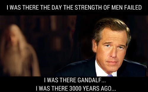 brian williams Lord of the Rings The Hobbit gandalf - 8450098432
