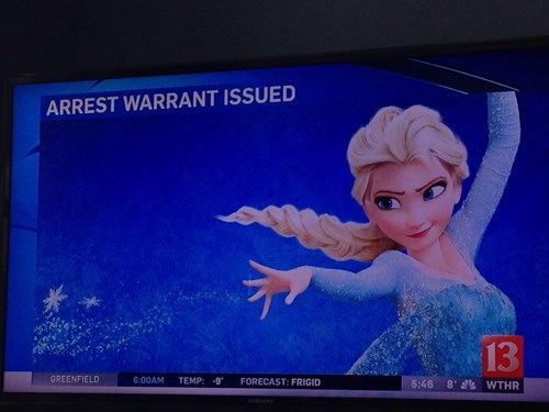 geek news arrest warrant elsa snow queen