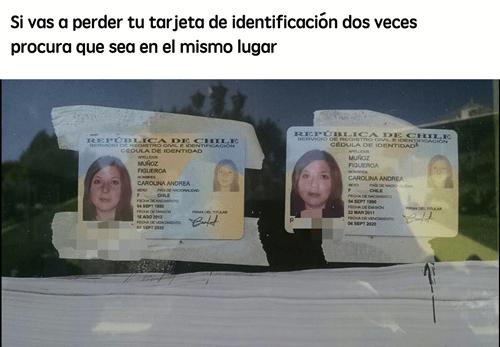 Perder tu identificación dos veces