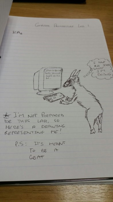 that's a great drawing of a goat.