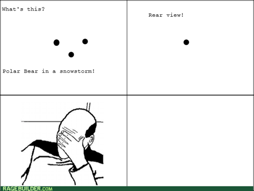 snow polar bear facepalm - 8450343168