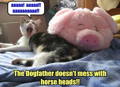 aaaaa! aaaaa!! aaaaaaaaaa!! The Dogfather doesn't mess with horse heads!!