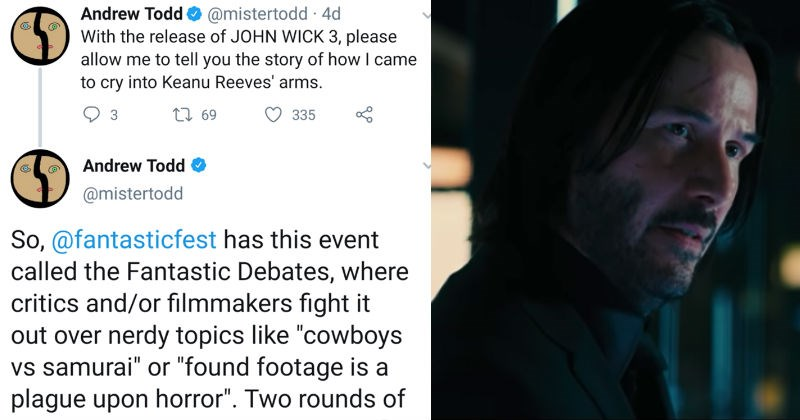 wholesome twitter keanu reeves awesome movies social media fans win - 8451077
