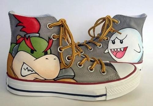 geeky merch koopaling boo converse shoes