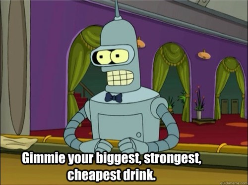 bender knows how to drink