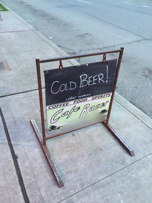 cold beer is the reason to go.