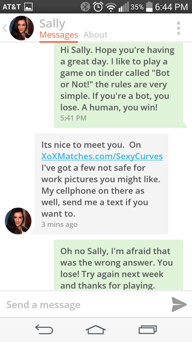 tinder is full of bots