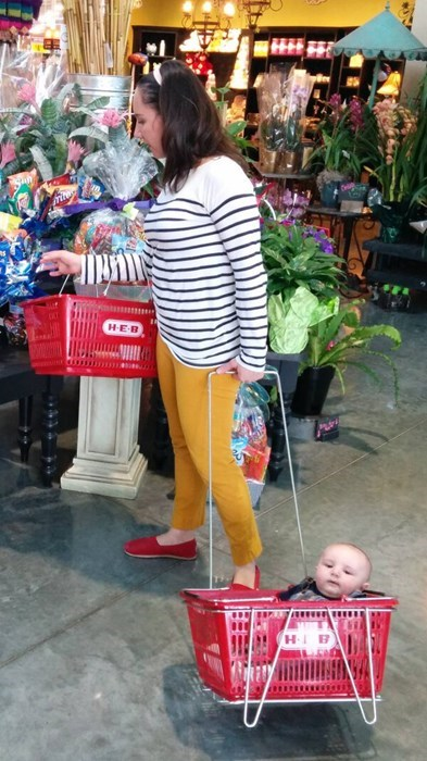 funny-parenting-no-carts-left-try-this