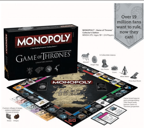 geeky merch game of thrones monopoly