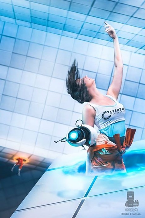 geeky cosplay portal chell