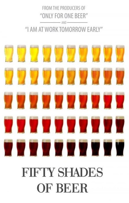the fifty shades of beer