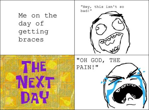 pain,braces