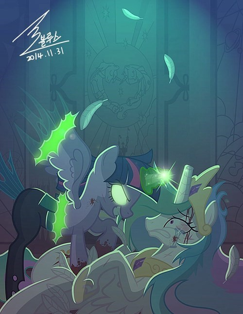 my-little-pony-twilight-sparkle-changeling-threatening-art