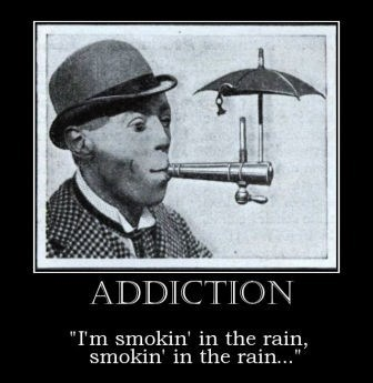 umbrella smoking funny rain - 8452160512