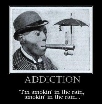 umbrella smoking funny rain - 8452160512