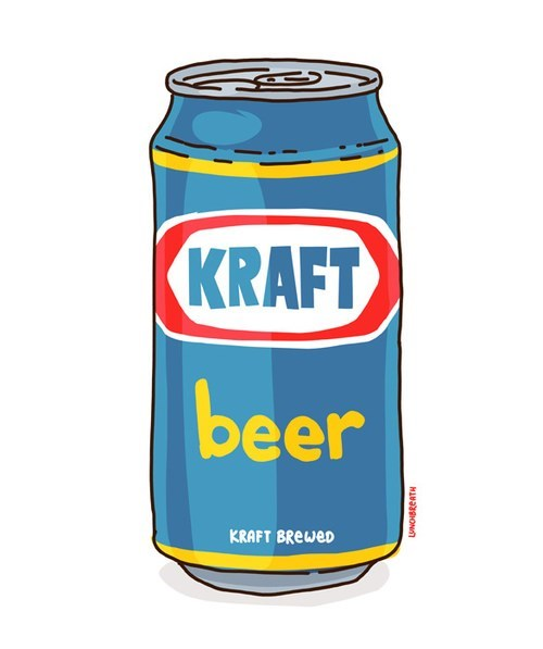 A delicious creamy kraft beer
