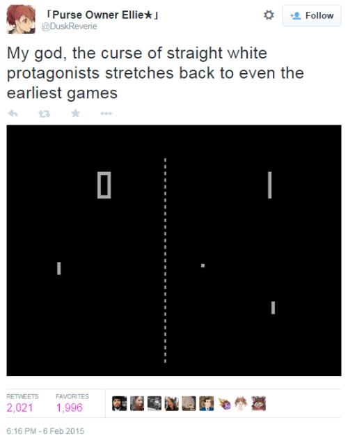 twitter sjw pong gamergate privilege - 8452333056