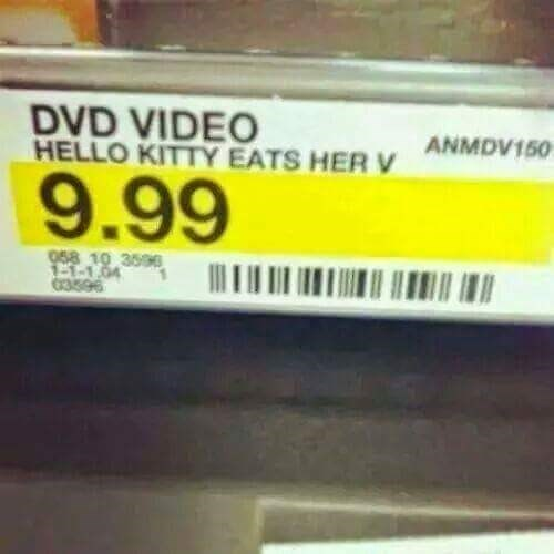 hello kitty loves going down