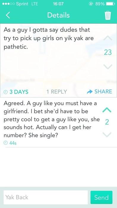 dating on yik yak