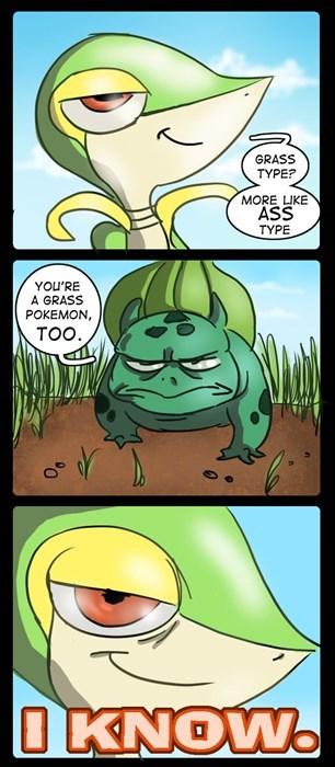 smugleaf,Pokémon,snivy,bulbasaur