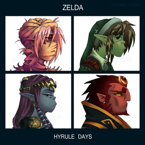 Gorillaz,crossover,the legend of zelda