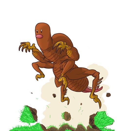 scary,Fan Art,wtf,diglett wednesday,diglett,flying